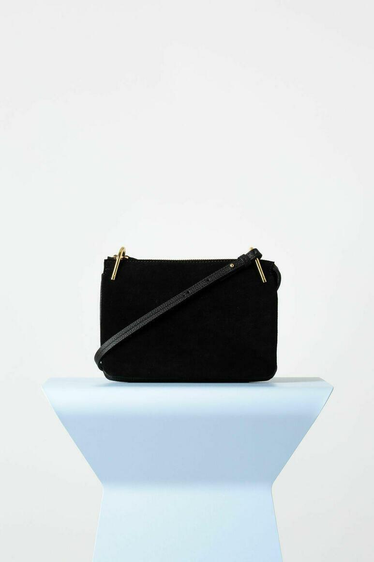 Fifi Mini Bag in Black Suede   Trada Marketplace