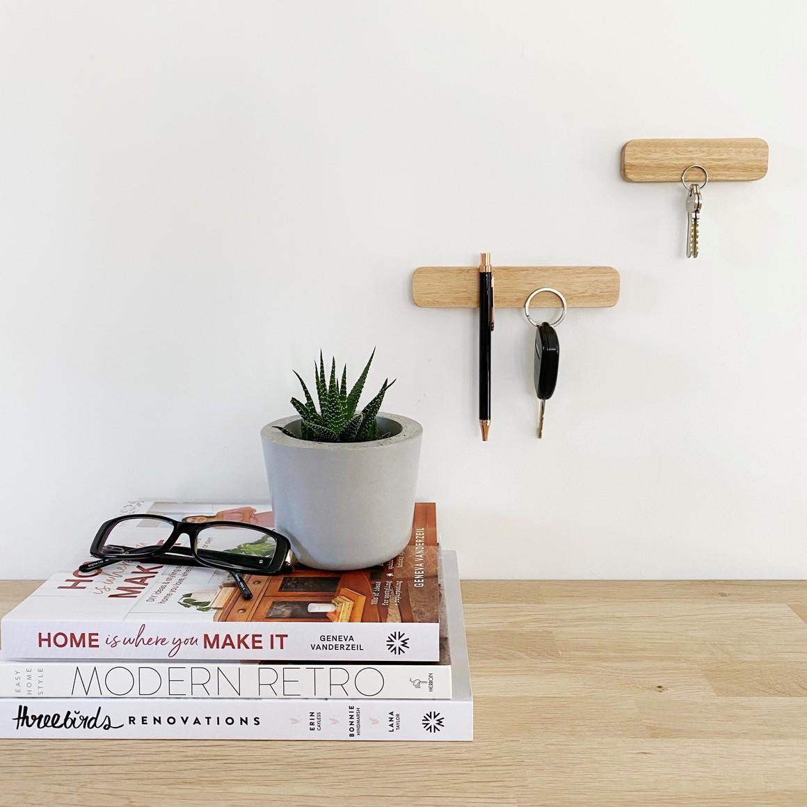 Wooden magnetic key holder ( Set of 2) | Trada Marketplace