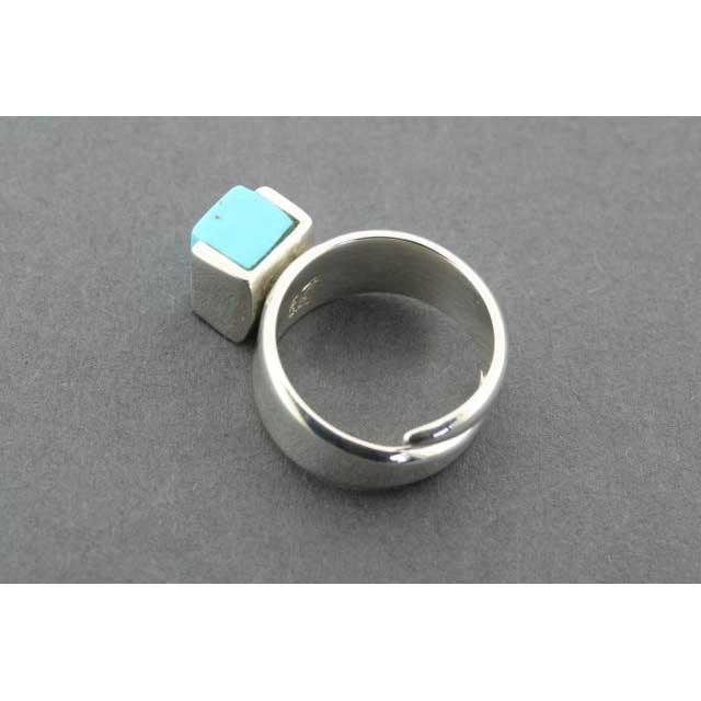 adjustable block ring - turquoise | Trada Marketplace