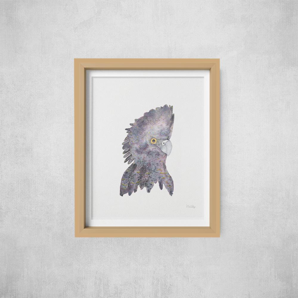 A4 Print -not framed Black Cockatoo | Trada Marketplace