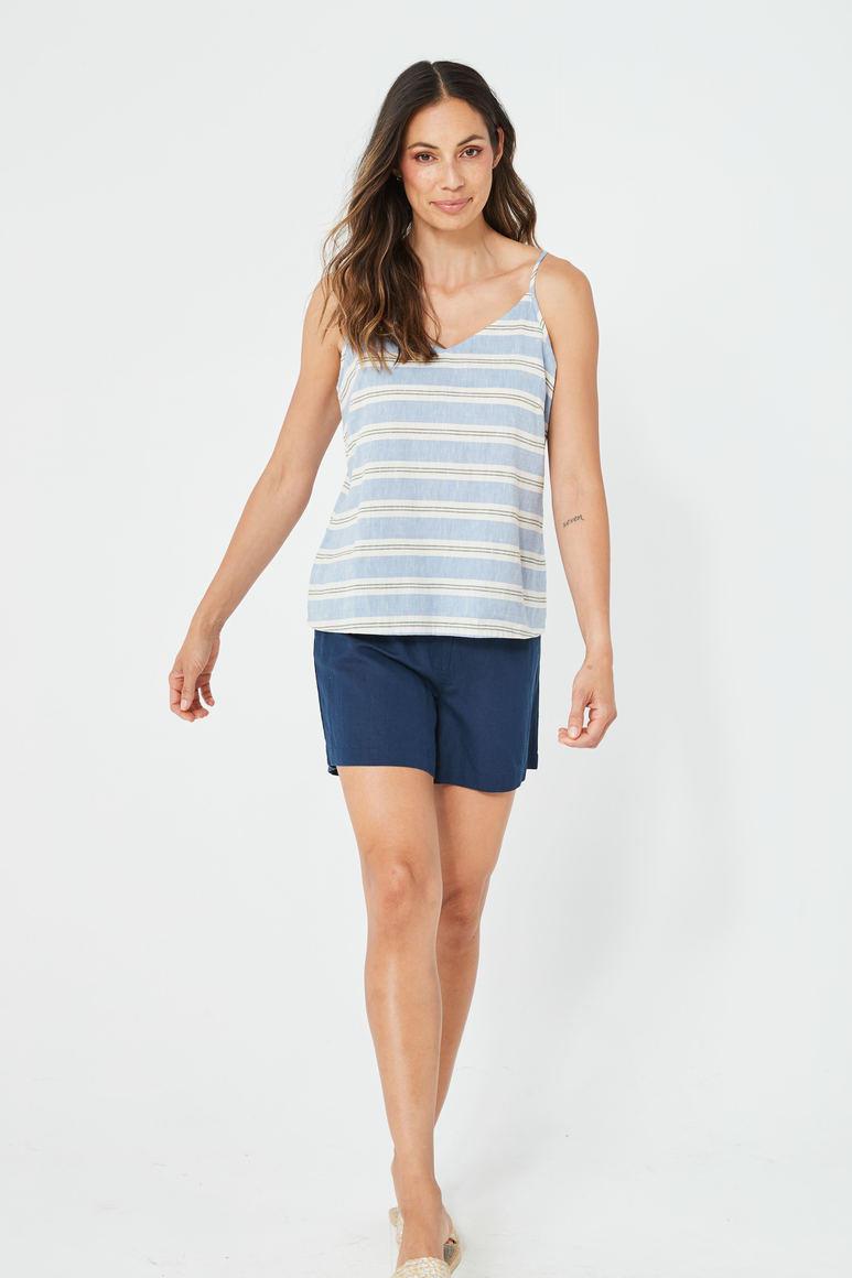 CLEO Singlet | Blue Stripe | Trada Marketplace