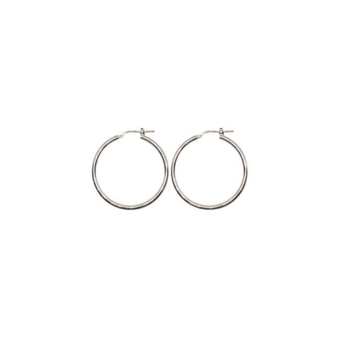 15 mm Sterling Silver Gypsy Hoop Earrings - Silver, Gold and Rose gold  | Trada Marketplace