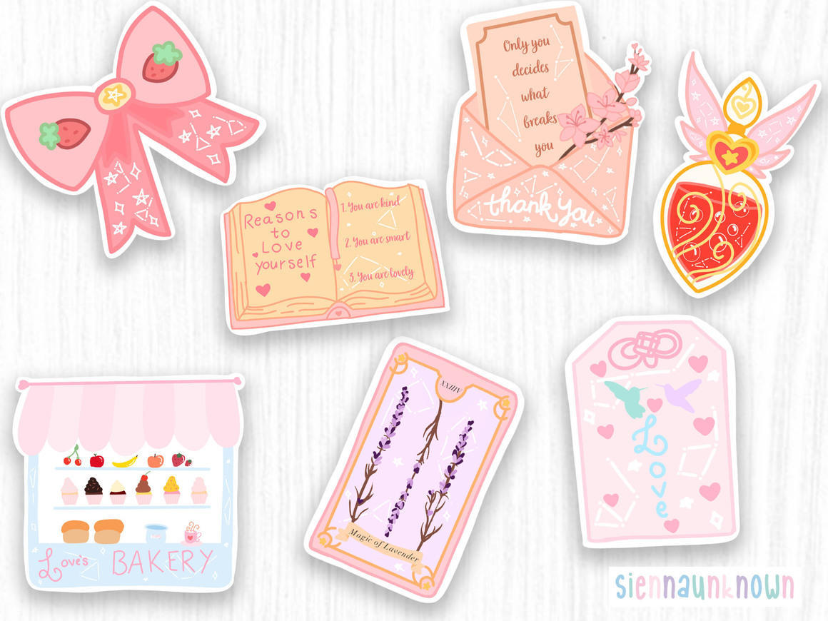Aesthetic die cut stickers & Prints | Trada Marketplace