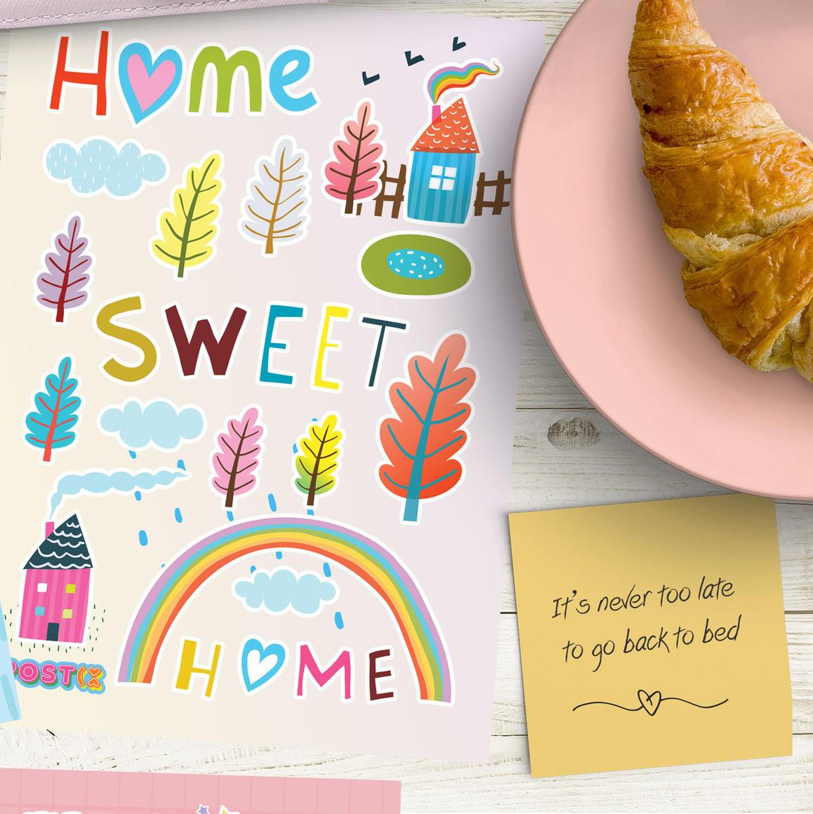 HOME SWEET HOME A6 GLOSSY STICKER SHEET   Trada Marketplace