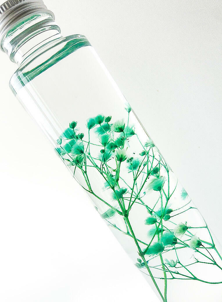 The Baby Breath Flower - Preserved Flowers, Home Interior Decor, Table Centerpiece, Giftware, Botanical Bottle    Trada Marketplace