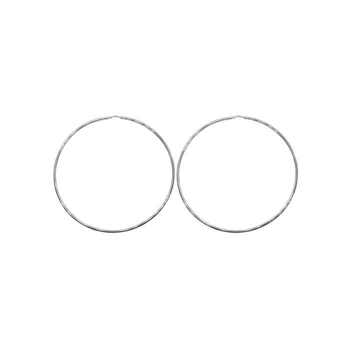 60mm Sterling Silver Gypsy Hoop Earrings - Silver, Gold and Rose gold  | Trada Marketplace