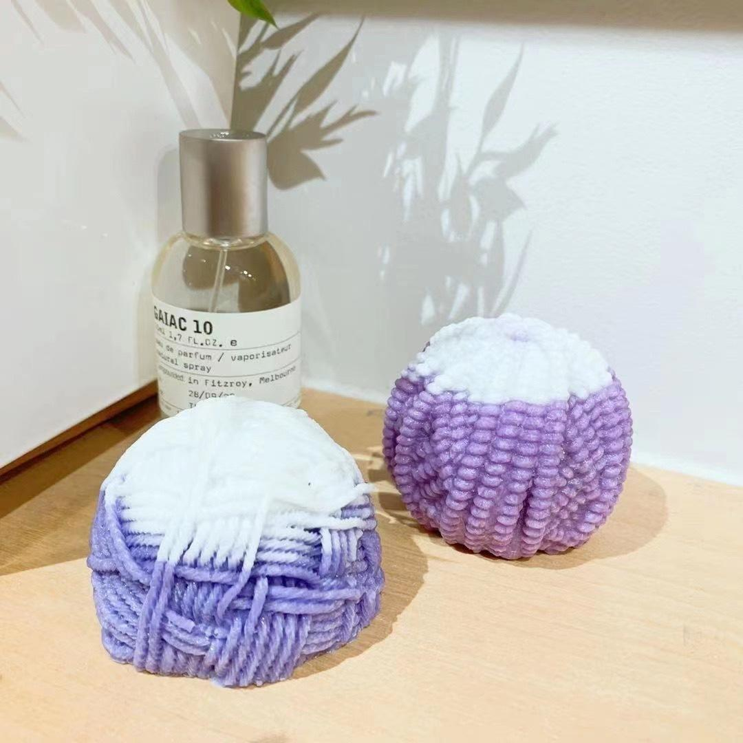 Ball of Yarn Scented Candle -Large / Purple | Trada Marketplace