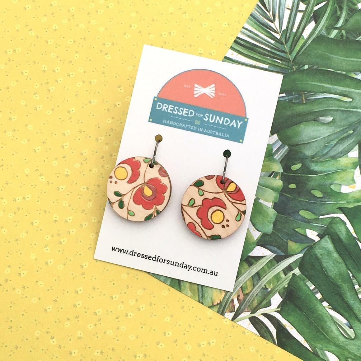Mexi Folk Round Earrings   Trada Marketplace