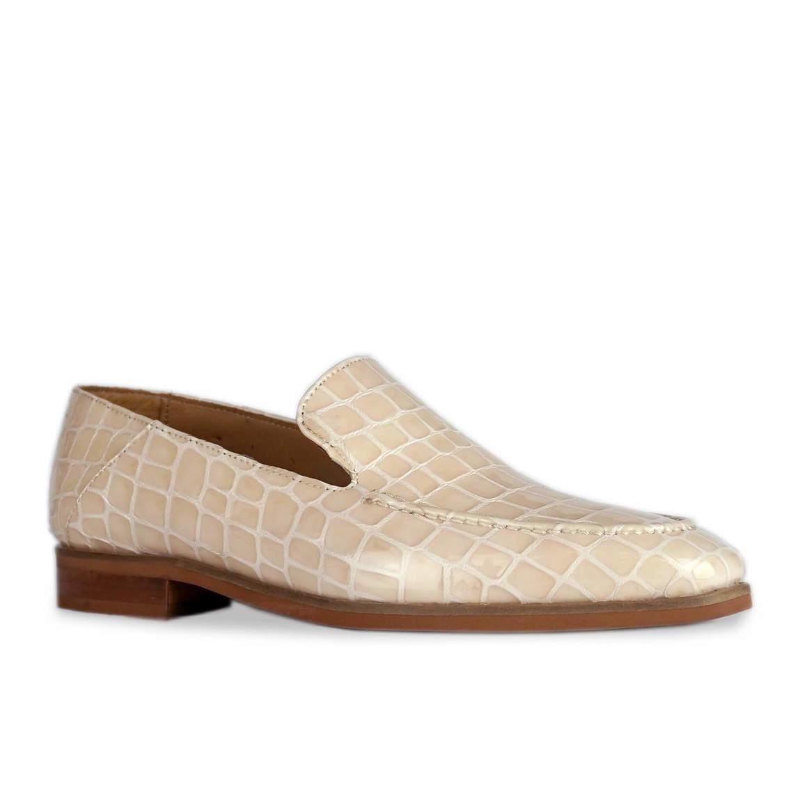 Jules: Nude Croc Loafer   Trada Marketplace