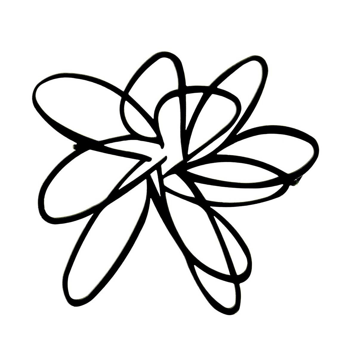 Brooch-Flower-Black | Trada Marketplace