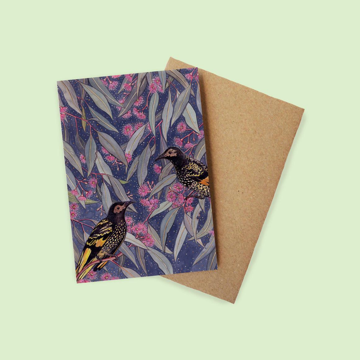 Greeting Card - Regent Honeyeater | Trada Marketplace