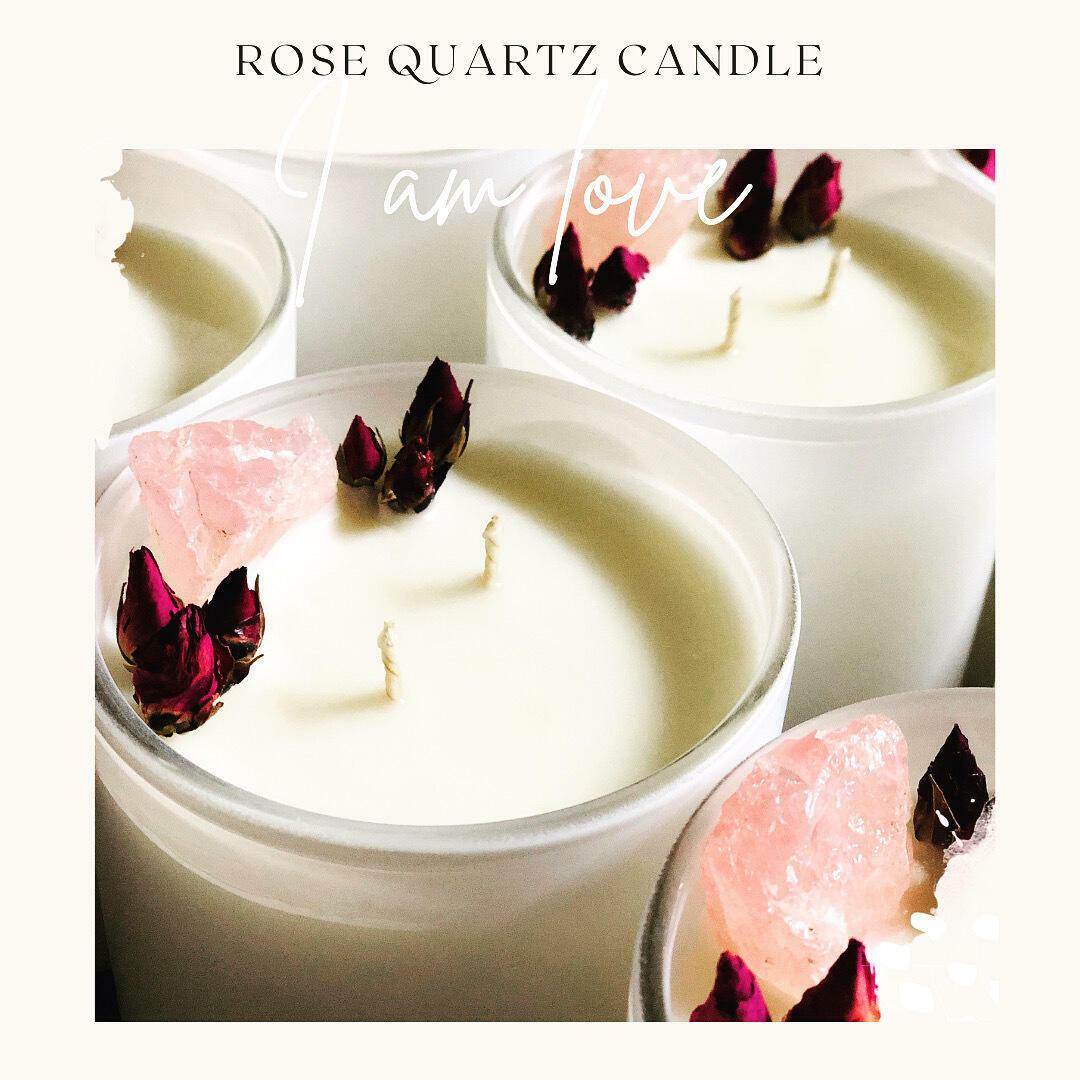 Rose Quartz infused Soy Candle   Trada Marketplace