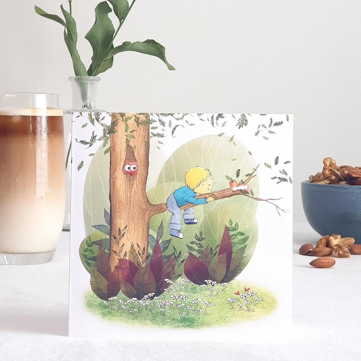 Treetop Adventure Greeting Card   Trada Marketplace