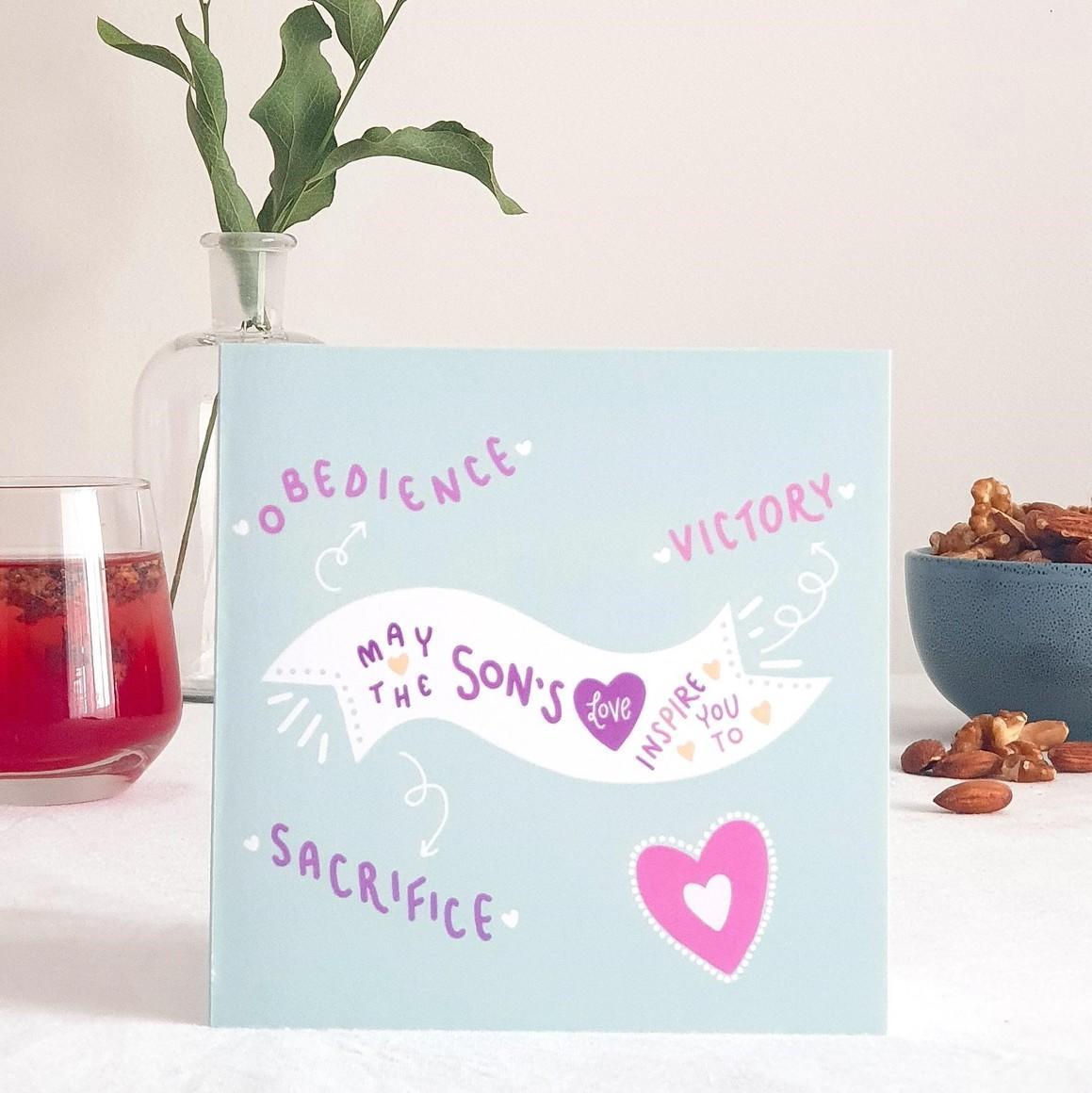 Son's Love Greeting Card   Trada Marketplace