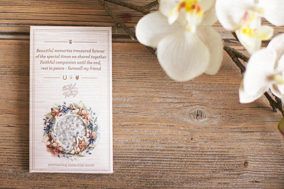 Everlasting memorial seed card   Trada Marketplace