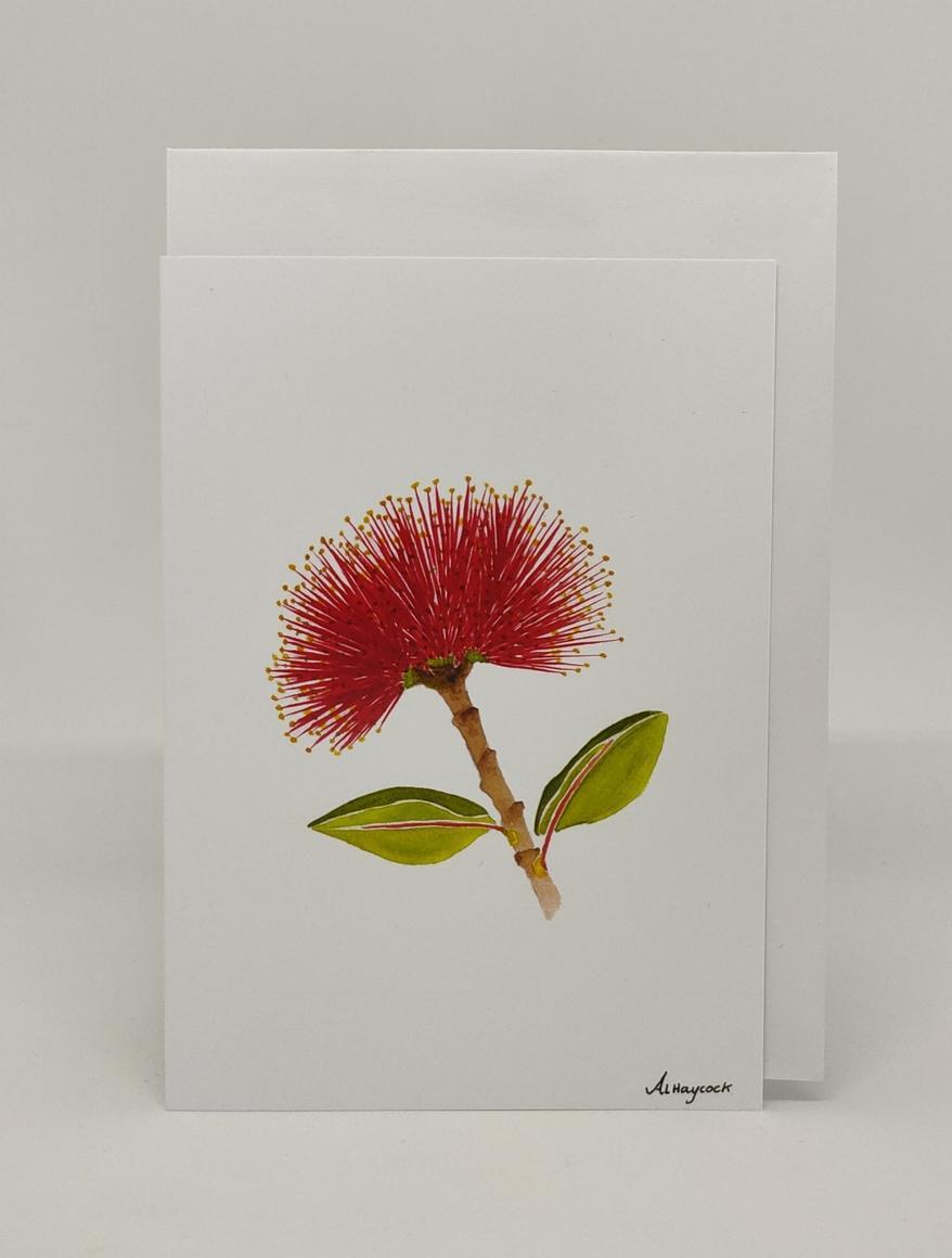 Pohutukawa Flower Card | Trada Marketplace