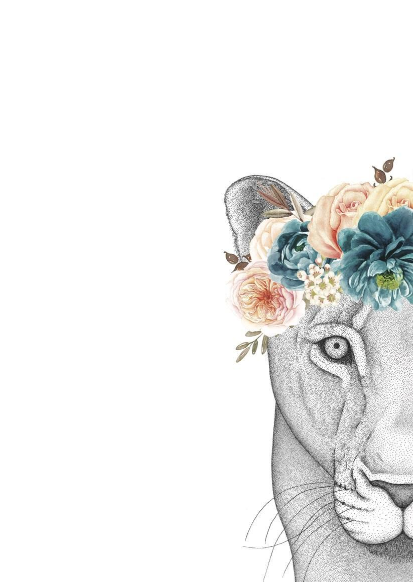 Linda the Lioness with Flower Crown   Trada Marketplace