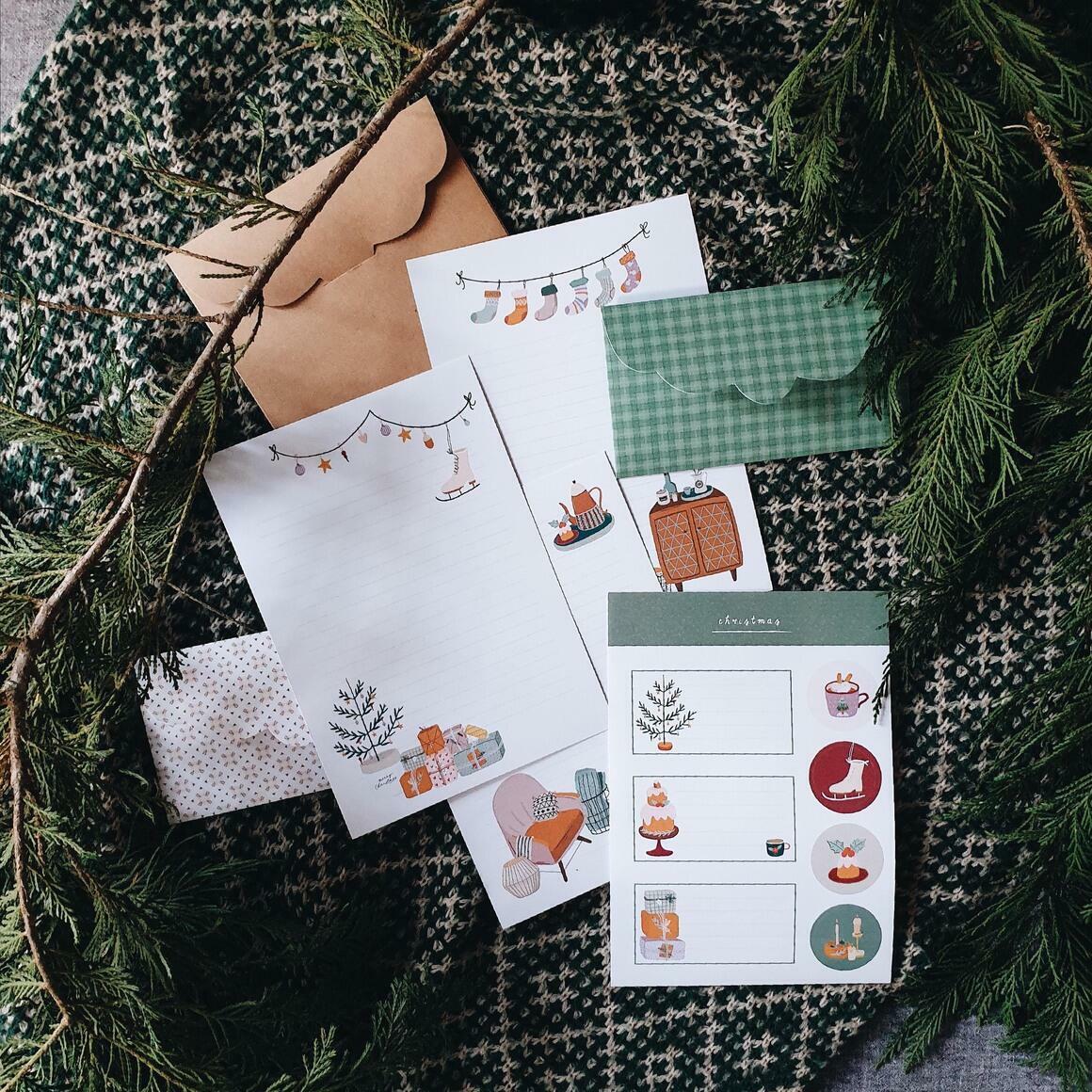 Christmas Letter Writing Set   Trada Marketplace