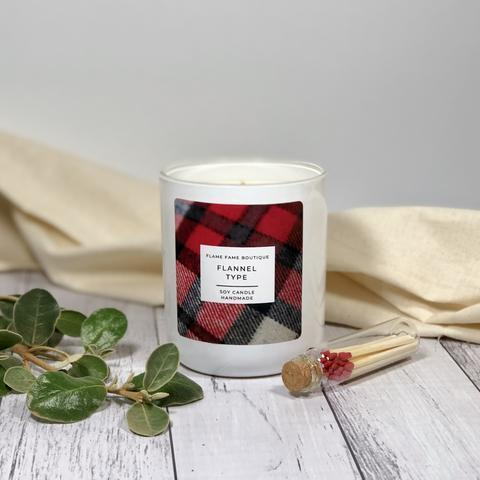 Flannel Type Candle Jar   Trada Marketplace