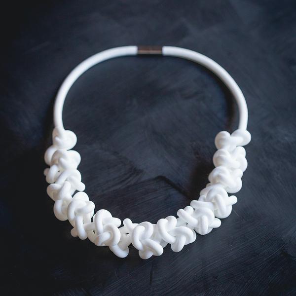 White neckpieces   Trada Marketplace