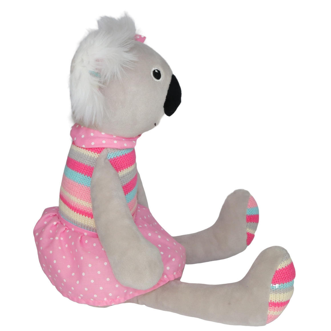 Plush Toy Koala - Pink/Stripe/Polka   Trada Marketplace