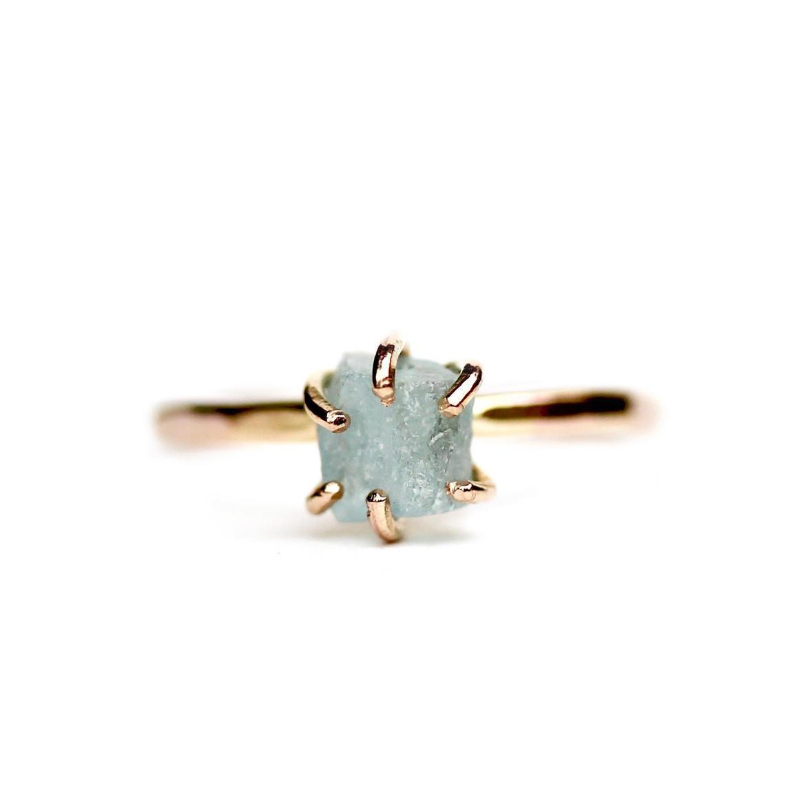 Aquamarine Ring Gold Filled | Trada Marketplace