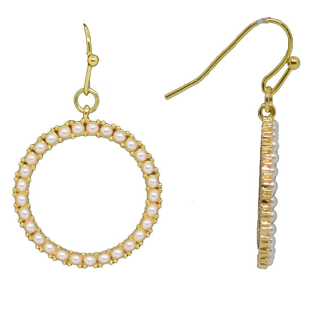 Pearl Halo Gold Earrings | Trada Marketplace