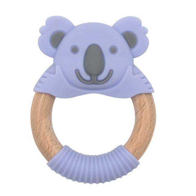 BibiBaby Teething Ring - Kira Koala - Violet and Grey   Trada Marketplace