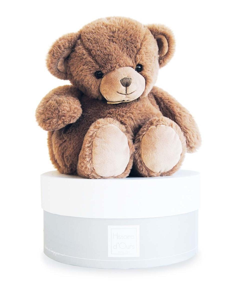 chocolate bear 25 cm + round gift box   Trada Marketplace