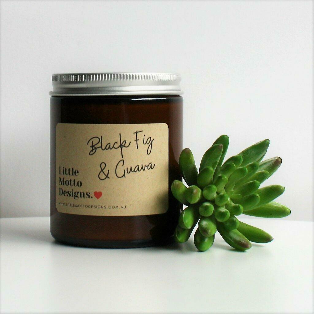 Boxed Amber Candle Jar - Black Fig & Guava | Trada Marketplace