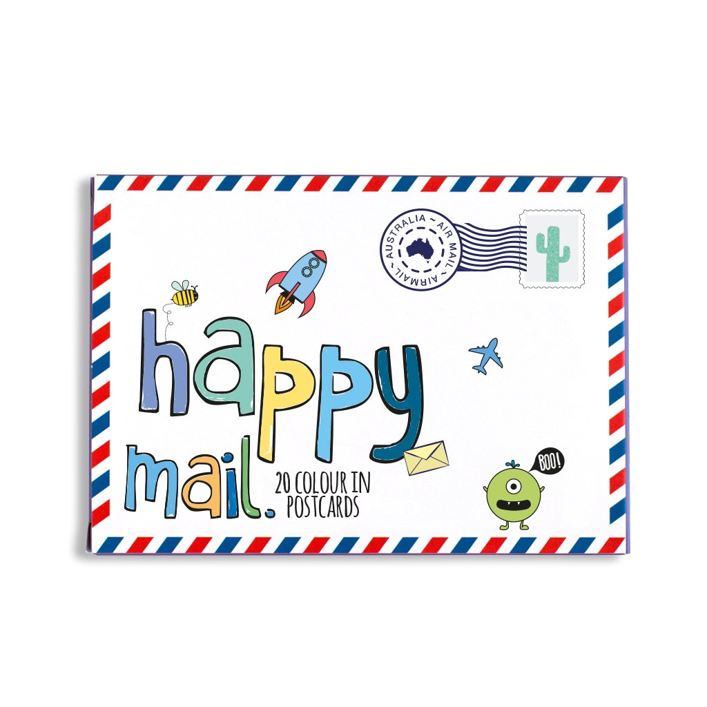 Happy mail - blue   Trada Marketplace