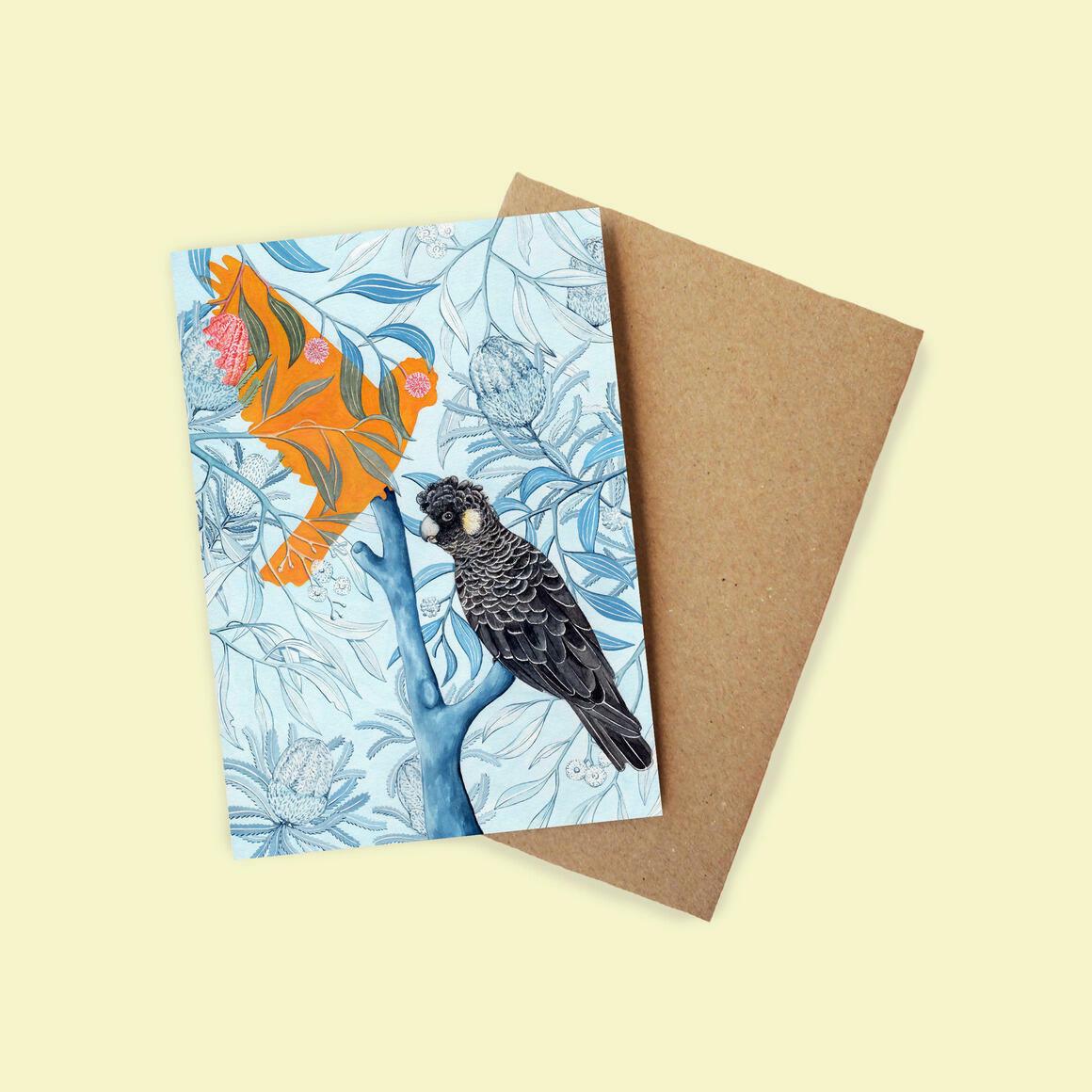Greeting Card - Carnaby's Cockatoo | Trada Marketplace
