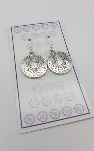 Star Burst Silver Plate Alloy Earrings Stainless Steel Hooks  | Trada Marketplace