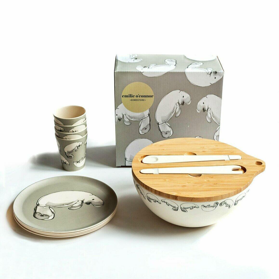 Dinnerware Gift Set with Dugong Design | Trada Marketplace