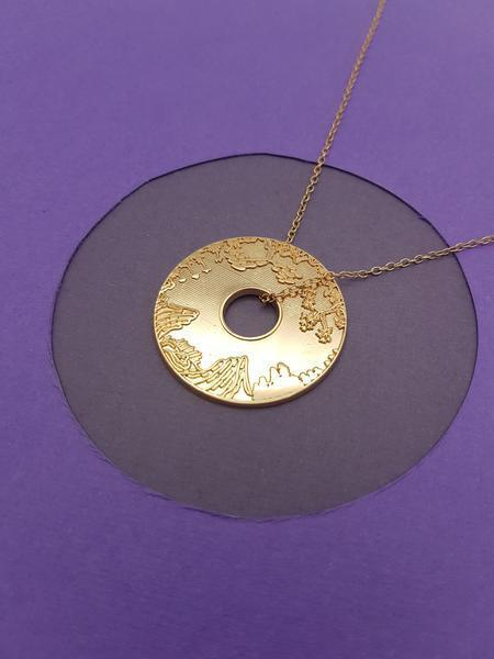 Landscape Pendant Rose Gold Plated Stainless Steel Chain 50cm  | Trada Marketplace