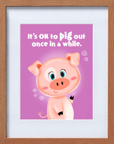 cute piglet frame | Trada Marketplace