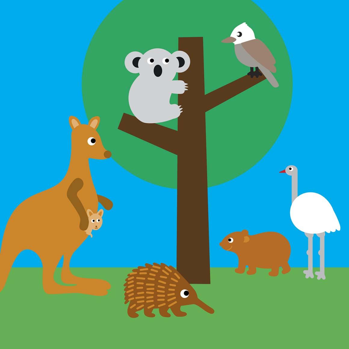 Australian animals card   Trada Marketplace