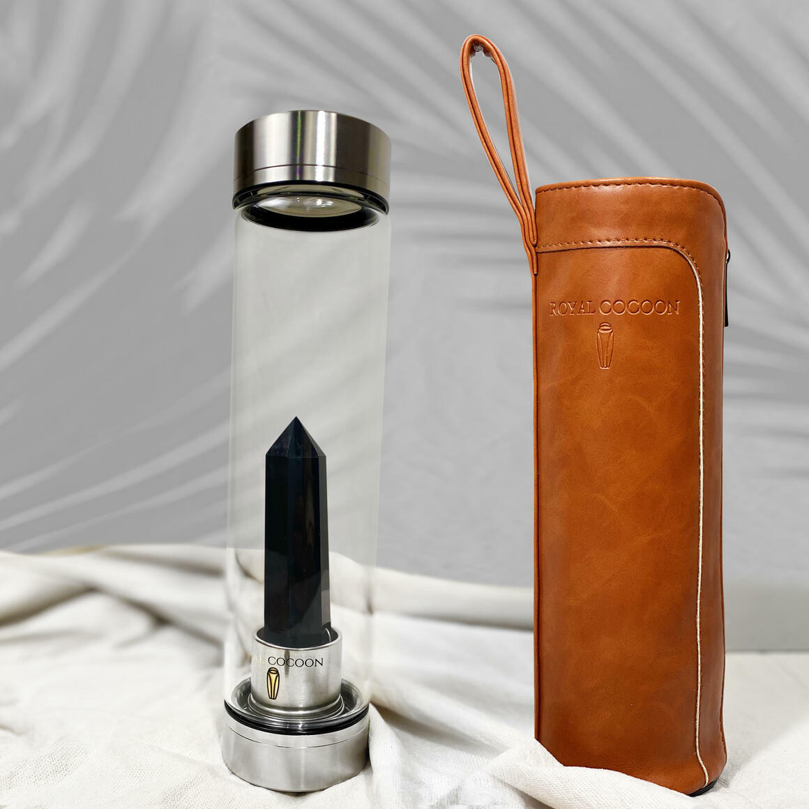 Obsidian ☽ Energy Rich Hydration Bottle - Stainless Steel   Trada Marketplace