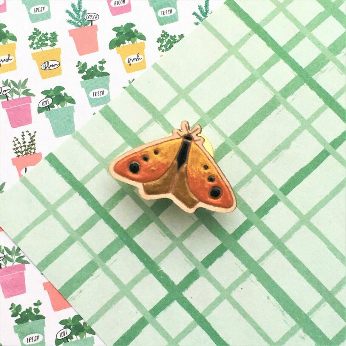 In the Garden Moth Pin   Trada Marketplace