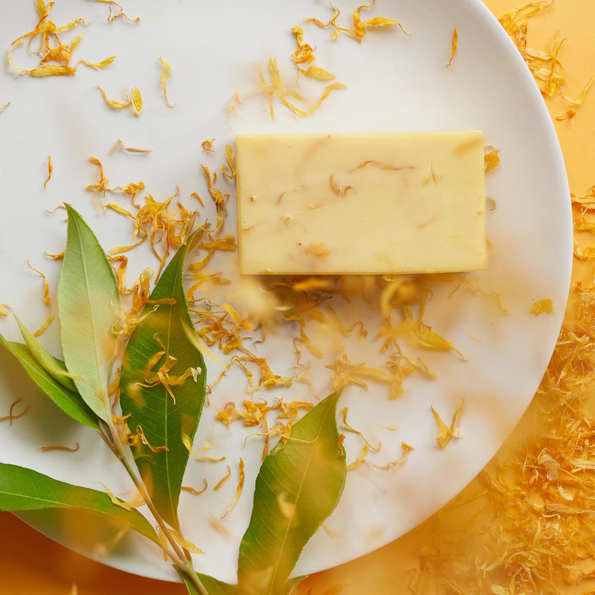 Lemon Myrtle, Calendula & Yellow Clay Natural Handmade Soap | Trada Marketplace