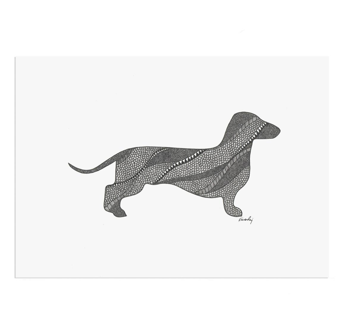 Dachshund Drawing Print | Trada Marketplace
