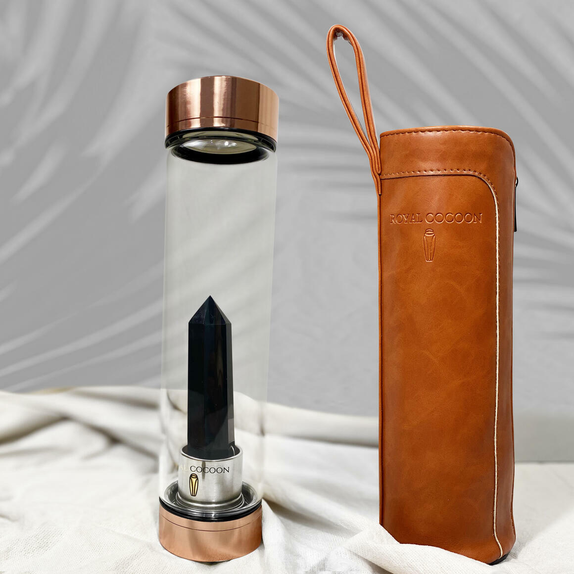 Obsidian ☽ Energy Rich Hydration Bottle - Rose Gold    Trada Marketplace