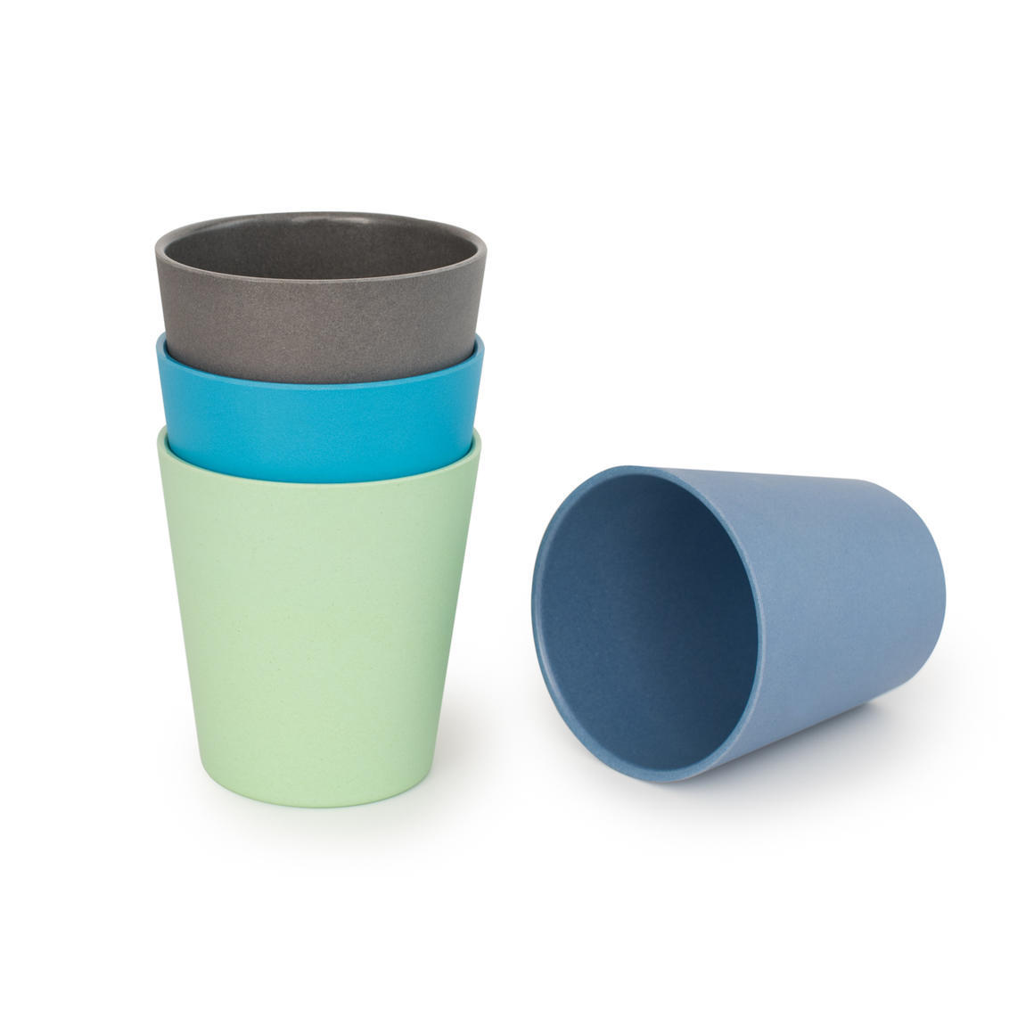 Bamboo 4 Pack Of Cups - Coastal Collection   Trada Marketplace