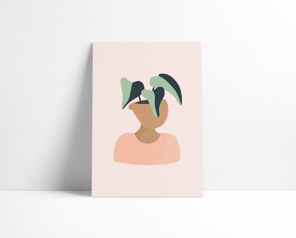 Plant Head A5 Print   Trada Marketplace