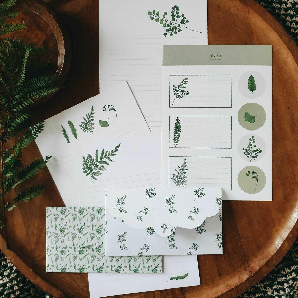 Fern Letter Writing Set   Trada Marketplace