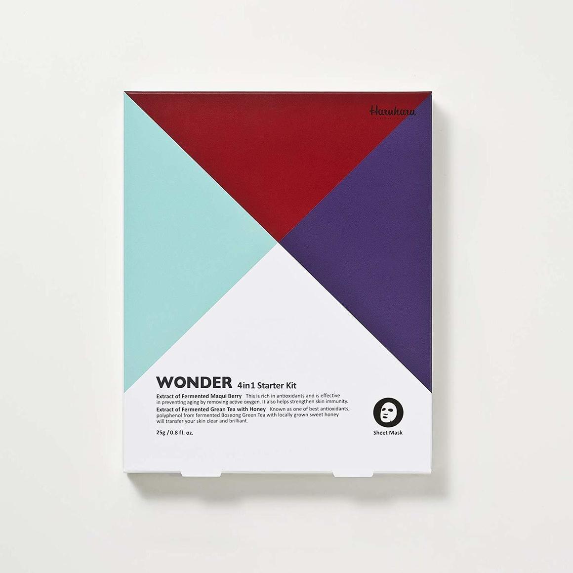 Haruharu Wonder Sheet Mask Starter Kit (4 sheets) | Trada Marketplace