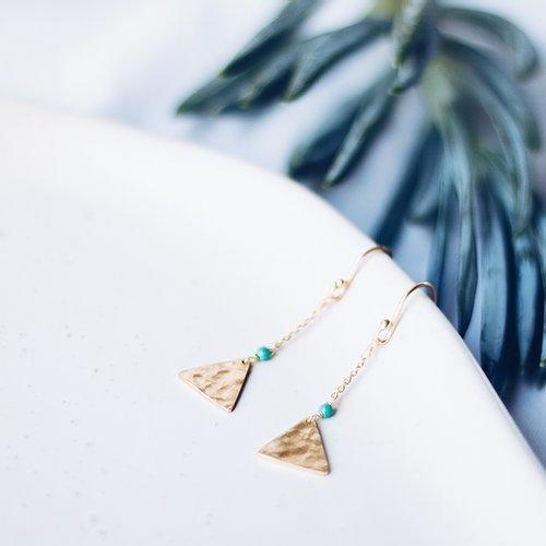 Mandisa Turquoise and Gold Earrings | Trada Marketplace