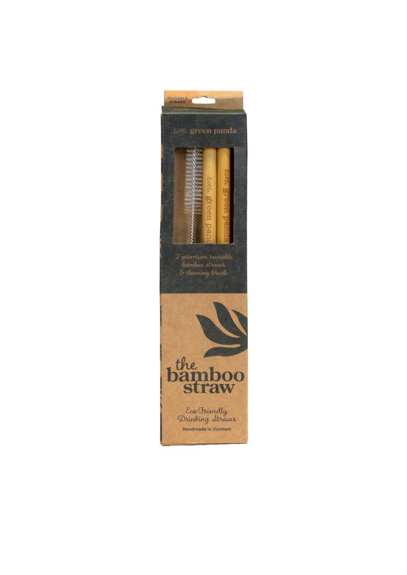 2 Bamboo Straws 1 Cleaning Brush | Trada Marketplace
