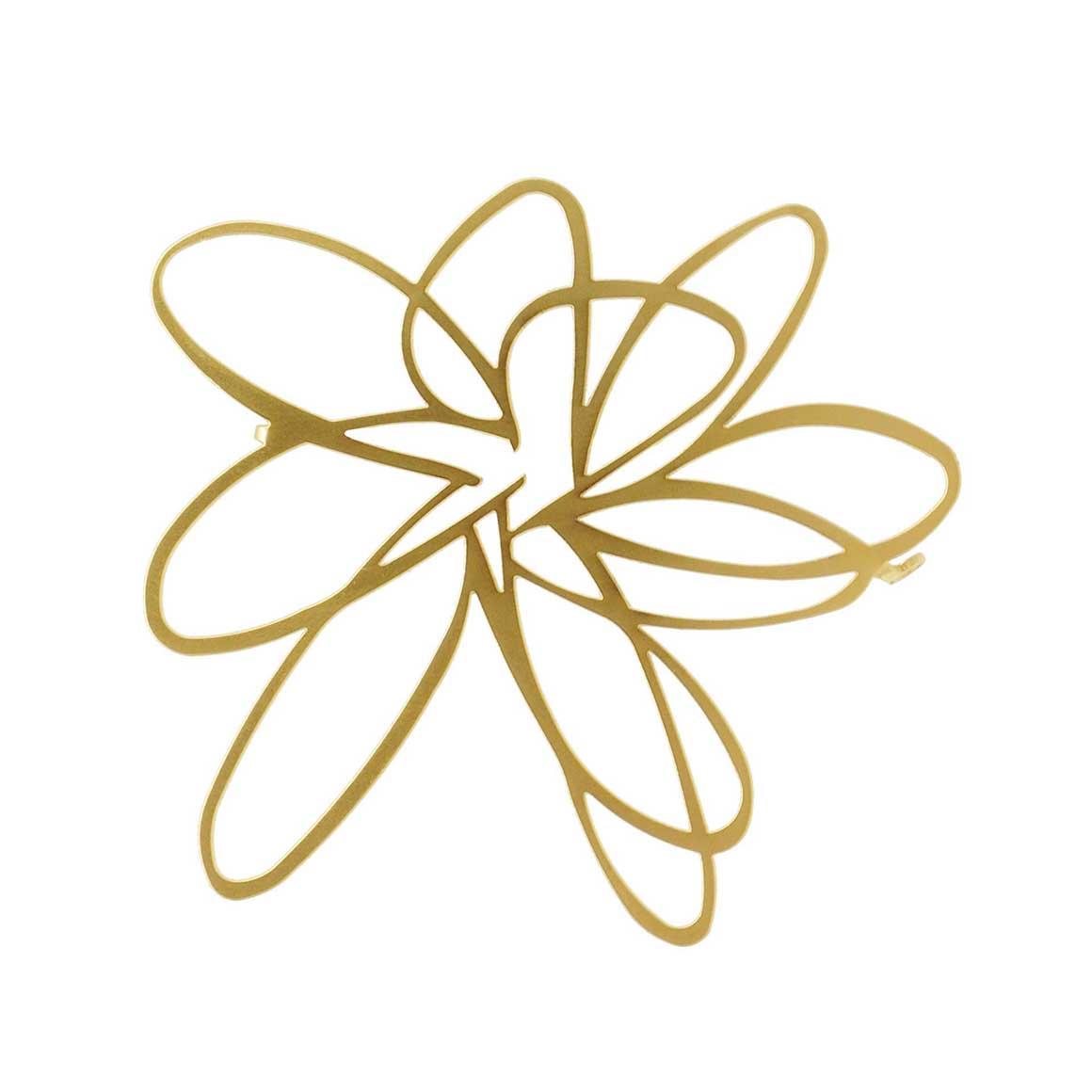 Brooch-Flower-22CT G Plate | Trada Marketplace