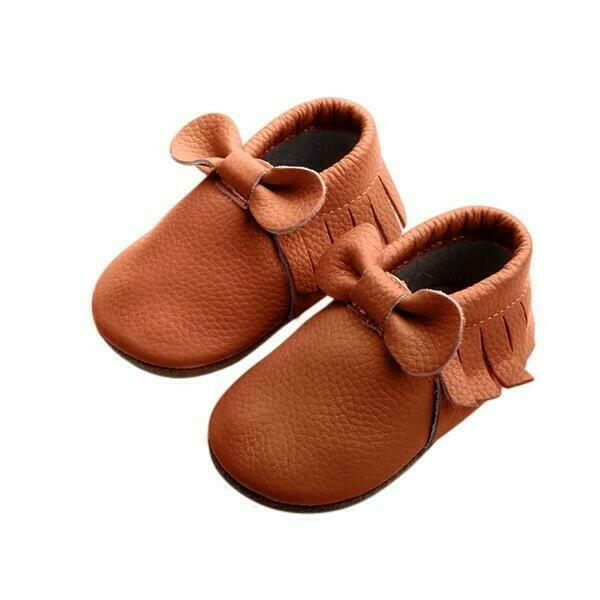 Moccasin - Bow - Brown | Trada Marketplace